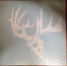Deer Skull hunter decal, hunting, white tail, car, truck, strap, window,
