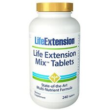 Life Extension MIX TABLETS 240 Tabletten Besten Multvitamin & Mineralien Complex