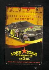 David Stremme--Nextel Cup--2006 NASCAR Pocket Schedule--Lone Star Steakhouse