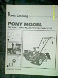 Troybilt O.P.C. Pony Roto Tiller June 1987 Ed. Parts Catalog #CT840687 (NOTE)