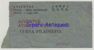 JUVENTUS - ATHLETIC BILBAO 1977 UEFA CUP FINAL MATCH SOCCER FOOTBALL TICKET