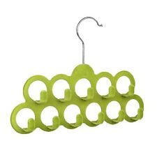 Multifunctional Scarf Hanger with 11 Hooks in Flocking, Random Color S9C6