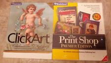 Broderbund ClickArt Celebration & Holidays + Print Shop Premier Edition 5.0  NEW