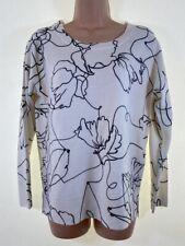 Neues AngebotBNWOT Next Elfenbein Cream Blumenmuster Langarm weich locker Pullover Größe 10 Petite