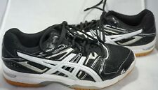 Asics Gel Rocket Mens Black Gray Lace Up Sneakers Athletic Shoes Size 6