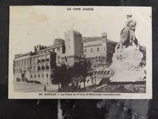 1931 Monaco Real Picture Postcard cover RPPC Princes Palace
