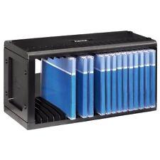 Hama 20 CD Storage Rack Plastic Wall Mount Compact Space Saver Black