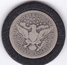 1914    Barber   Quarter  (90% Silver)  Coin