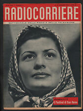 RADIOCORRIERE 4/1954 ENRICA CORTI SANREMO DINO OLIVIERI DUO FASANO REX RAIDER
