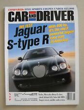 Car and Driver ~ May 2002 ~ Jaguar S-Type R F-Type Mercedes E-Class Infiniti G35