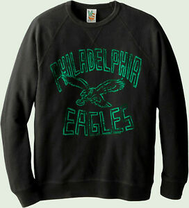 Philadelphia Eagles NFL Junk Food Field Goal Fleece Crew Sweatshirt Men's LARGE