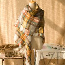 New Womens Scotland Cashmere wool soft Scarf Ladys Shawl plaid classics