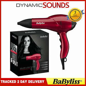 BaByliss 5568BU Salon Light 2100W Professional Lightweight AC Ionic Hair Dryer