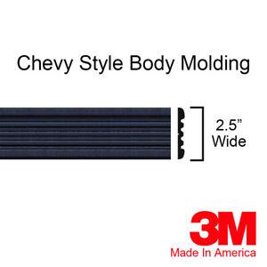 BLACK Side Body Trim Molding Fits Chevy Tahoe Suburban Silverado Pickup Truck