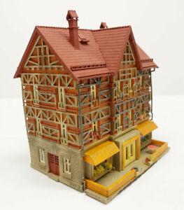 Vollmer Timber Frame House With Shops Vollmer N Gauge Top