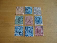 Italien, 1879, 1891, 1893, 1901, 1906, diverse Michelnummern, gestempelt