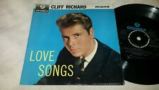 CLIFF RICHARD -LOVE SONGS -ORIGINAL 1963 Uk COLUMBIA SEG 8272 MONO EP-Ex/Ex