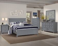 New Classic Furniture Tamarack Queen Gray 6 Piece Bedroom Set