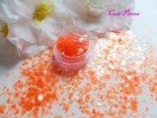 UNGHIE Halloween * Tangerine * traslucido trama grossa HEXAGON MIX Spangle glitter estetica