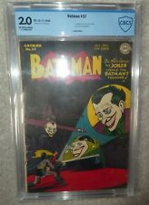 DC COMICS BATMAN CGC CBCS 2.0 Joker appearance 37 golden age Steals