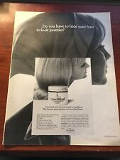 1967 VINTAGE 10X13 Print Ad CLAIROL CONDITIONER DO YOU HAVE TO HIDE YOUR HAIR?