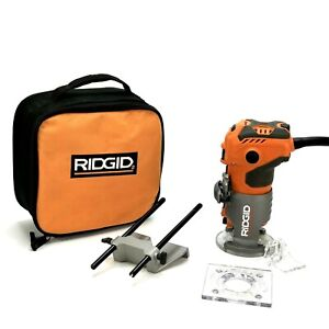 RIDGID R2401 1.5 HP 5.5A Corded Compact Router - Orange With Case