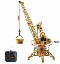 Wire Control RC Crane Lift Tower 4CH Engineer Construction Vehicle Toy Playset