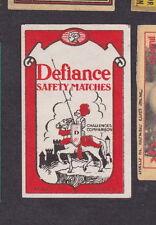 Ancienne  étiquette  allumettes  Suède  BN14576 Defiance Chevalier