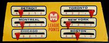 1960 - 1966 Table Hockey Munro League Points Original Six Scoreboard  EX+