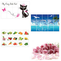 Waterproof Anti-oil Stain Kitchen Decoration Wall Sticker Tile Decal SALE