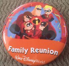 "Walt Disney World Theme Park ""Family Reunion"" Button Pin The Incredibles Gang"