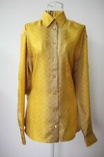 NWT Jean Paul Gaultier women Silk Shirt top YELLOW sz38  RRP$1830