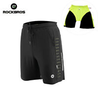 RockBros Mens Fitness Exercise Cycling Shorts Bike MTB Sport Pants Loose Black