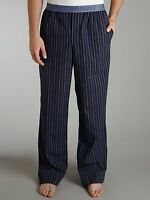 EMPORIO ARMANI Underwear PAJAMA Stripe LOGO BANDED Navy PANTS Cotton S Free Ship