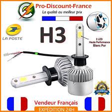 2 x Ampoule H3 LED Blanc Pur 72W Xenon 6000K Ventilé Aluminium Phare Cob Voiture