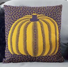 Yayoi kusama pumpkin pillow cover home decor moma graphic op art japan halloween