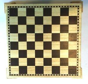 "Woodfield Wooden Chess/Checker Board  11"" X 11"" X 3/4""    (D)"