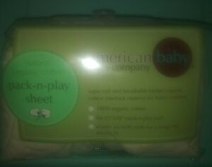 NEW NIP American Baby Company pack-n-play sheet natural organic cotton beige
