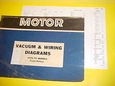 1970 1971 1972 1973 1974 FORD GALAXIE LTD CONVERTIBLE VACUUM+WIRING DIAGRAMS