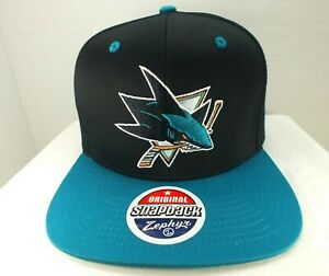 San Jose Sharks HAT NHL Hockey Retro Vintage Snapback Cap NEW By Zephyr NEW