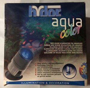 HYDOR AQUA COLOR BLUE UL LIGHT AQUARIUM TERRARIUM LED. Box is crushed product ok