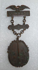 Vintage Bronze Hebrew Union Veterans Association Civil War Medal  - Very Rare