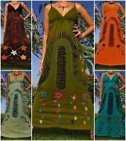 ANGELA NEW Handmade Women Long Maxi Dress Boho Hippie Summer Size M - XXXL Plus
