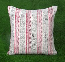 Dari Cushion Cover Handmade Cotton White Floral Pillow Cover Home Decor Throw