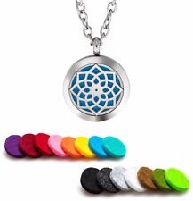 Aromatherapy Essential Oil Diffuser Necklace Pendant Stainless Steel Majestic