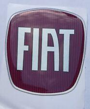 Fiat badge logo front rear emblem silicon sticker label repair kit Size Medium