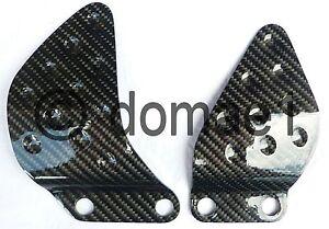 Kawasaki ZX9R carbon fiber heel guards 1998-2003 plates protectors ZX 9 R