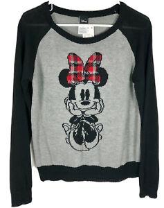Women's Disney Sweater NWT's Size XL Heather Gray Minnie Mouse
