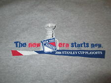 "2006 NEW YORK RANGERS ""The new era starts now"" STANLEY CUP PLAYOFFS (LG) T-Shirt"