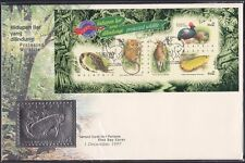 Malaysia 1997 Stamp Week: Protected Wildlife Pewter FDC with Serial 09869